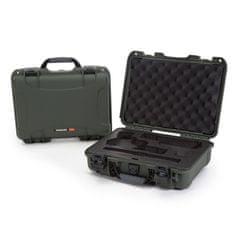 Nanuk Odolný kufr model 910 2UP Classic Pistol - zelený
