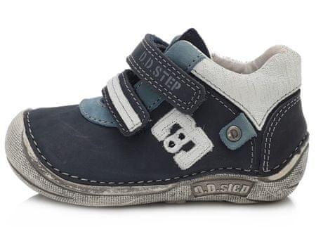 D-D-step Fiú barefoot cipő 018-43C, 19, kék
