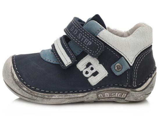 D-D-step Chlapecká barefoot obuv 018-43C 19 modrá