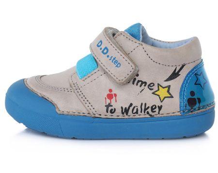 D-D-step Fiú barefoot cipő 066-739B, 20, szürke