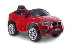Beneo Elektrické autíčko BMW X6M NEW – JEDNOMIESTNE, červené lakované, EVA kolesá, kožené sedadlo, 12V, 2,
