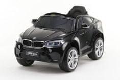 Beneo Elektrické autíčko BMW X6M NEW – JEDNOMIESTNE, čierne lakované, EVA kolesá, kožené sedadlo, 12V, 2,4