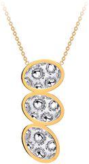 Preciosa Dlhý oceľový náhrdelník s trblietavým príveskom Idared 7365Y00