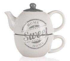 Banquet Kerámia teáskanna csészével SWEET HOME, OK