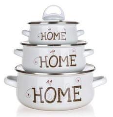 Banquet komplet kuhinjskih loncev iz emajl zasnove HOME Coll., 6 kosov