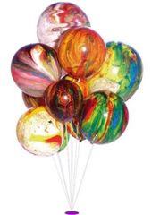 Globos Balónky mramorované 5 ks