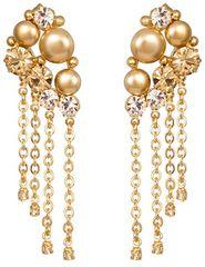 Preciosa Luxusné pozlátené náušnice Antoinette 2347Y61