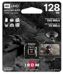 GoodRam MicroSDXC memorijska kartica + SD adapter, 128 GB, UHS-I U3, 4K V30