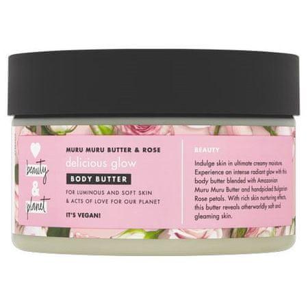 Love Beauty & Planet Masło do Tělo z olejem różanym i masłem muru muru (Delicious Glow Body Butter) 250 ml