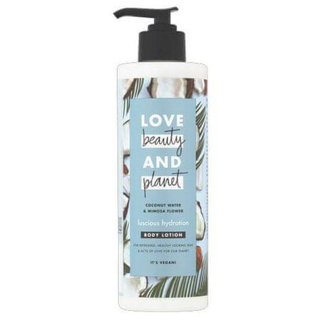 Love Beauty & Planet Testápoló tej kókusz vízzel és mimóza virágokkal (Luscious Hydration Body Lotion) (mennyiség 100 ml)