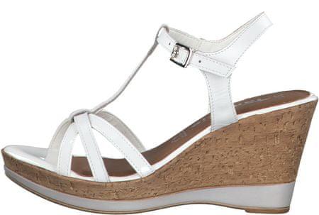 Tamaris 28347 ženski sandali s polno peto, beli, 38