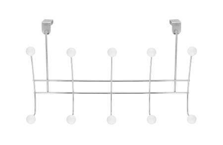 TimeLife viseči obešalnik za vrata, 10 kavljev, 42×25 cm, krom
