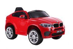 Beneo Elektrické autíčko BMW X6M NEW – JEDNOMIESTNE, červené, EVA kolesá, kožené sedadlo, 12V, 2,4 GHz DO