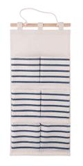TimeLife viseći organizator, 6 džepova, 55 × 25 cm, plava