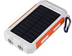 Viking Viking solární outdoorová power banka Delta I 8 000 mAh DEL080WO, bílá/oranžová