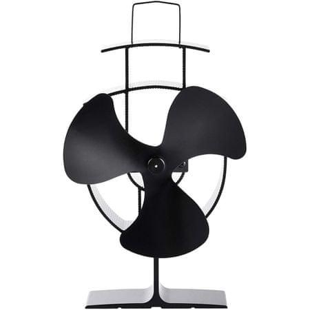 VonHaus ventilator za kamin, aluminij, črn (2514061)