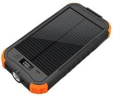 Viking Viking solárna outdoorová powerbanka CHARLIE II 12 000 mAh CHAR12, čierna/oranžová