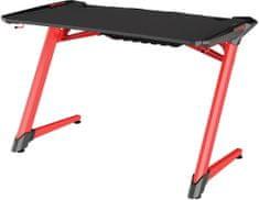 Sandberg biurko Fighter Gaming Desk 2, czarno-czerwone (640-92)