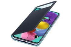 Samsung Galaxy A51 S View maska, preklopna, crna