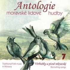 Antologie moravské lidové hudb: Antologie moravské lidové hudby - CD7 Verbuňky a písně rekrutské - CD