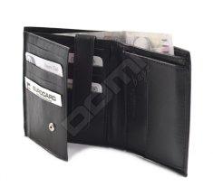 Bright Pánská kožená peněženka na šířku Černá