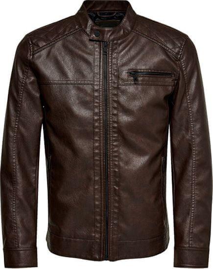 ONLY&SONS Pánska bunda onsale 22011975 Slate Black (Veľkosť L)