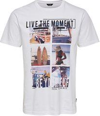 ONLY&SONS Pánske tričko ONSCAM SLIM SS TEE White