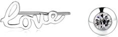 S'Agapõ Acél aszimmetrikus fülbevalóWrite SWT22