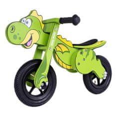 MILLY MALLY Detské odrážadlo bicykel Milly Mally DINO Mini green Zelená