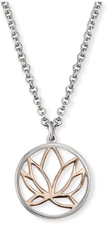Engelsrufer Srebrna ogrlica z rožo lotosa ERN-LILLOTUS srebro 925/1000
