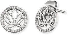 Engelsrufer Błyszczące Kolczyki z kwiatem lotosu ERE-LOTUS-ZI-ST srebro 925/1000