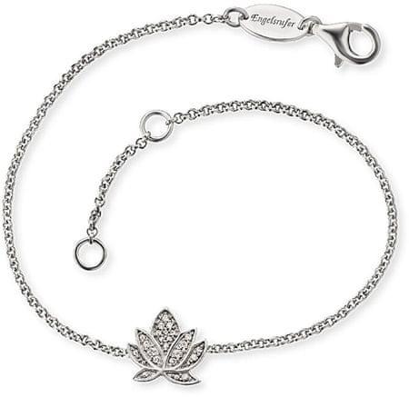 Engelsrufer Srebrna zapestnica z rožo lotosa ERB-LILLOTUS-ZI srebro 925/1000