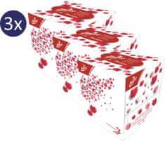 LINTEO Papírzsebkendő 3x 60 ks BOX, 3 rétegű balzsammal, LOVE