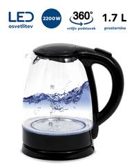 Platinet PEK760B grijač vode, 1,7 l, 2200 W, LED osvjetljenje, okretno postolje za 360°, crno