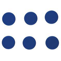 Idena Magnet 6ks , modrý, 24mm