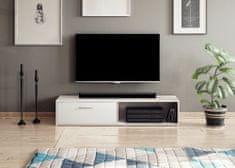 Televizní stolek ETALON, bílý mat