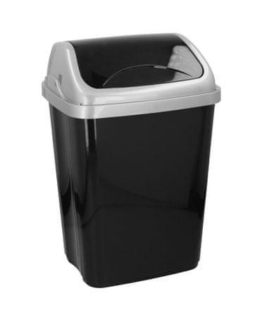 TimeLife koš za odpadke, klasičen, 50 litrov, 64x42x33 cm, črn