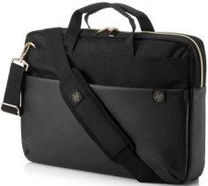 HP futerał na notebooka Pavilion Accent Briefcase 15 4QF94AA, czarny/złoty