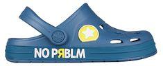 Coqui Detské šľapky Froggy Niagara Blue Prblm 8802-404-5151