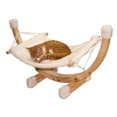 Kerbl houpací síť pro kočky s robustní dřevěnou konstrukcí