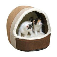 Kerbl útulná jeskyně Snugly Amy pro kočky - 35 x 33 x 32 cm
