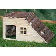 Kerbl domeček pro hlodavce s rampou - 50 x 25 x 25 cm