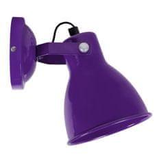 Cdiscount nástěnná lampička, fialová