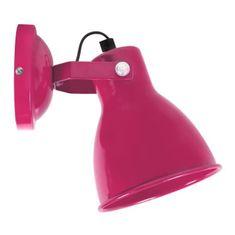 Cdiscount nástěnná lampička, růžová