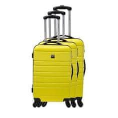 France Bag sada 3 pevných ABS kufrů s výškou 55, 65 a 70 cm žlutá
