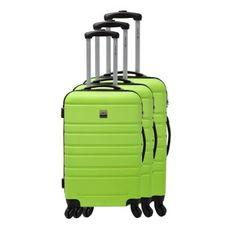 France Bag sada 3 pevných ABS kufrů s výškou 55, 65 a 70 cm limetková