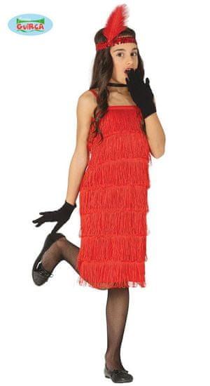 Detský kostým - šaty charleston - veľkosť 5-6 rokov
