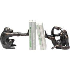 KARE Zarážka na knihy Monkey - set 2 ks