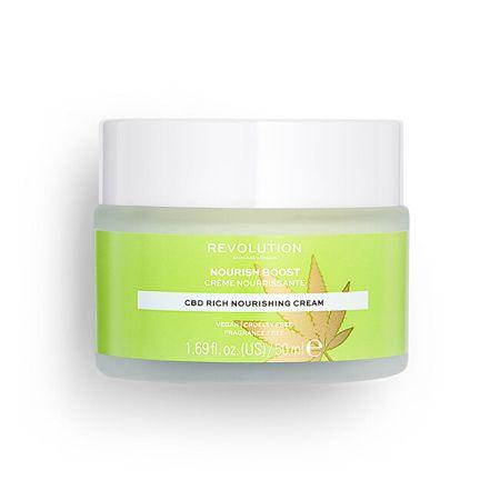 Revolution Skincare Revolution bőrápoló dehidratált és száraz bőrre (CBD Rich Nourish ing Cream) 50 ml