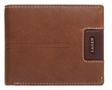 Lagen Moška usnjena denarnica LG-1134 OAK BRN